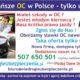 Najtańsze OC w Polsce - tylko u NAS ! 507 650 501 codziennie do g.22 RATY !!!